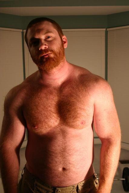 Redhead in thong bikini